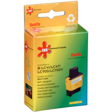 Brother LC47Y Yellow Ink Cartridge (Remanufactured)