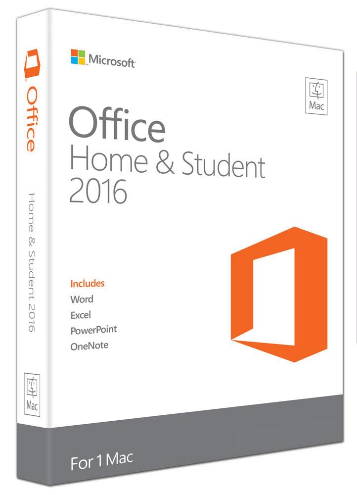 Microsoft Office Mac Home & Student 2016- No DVD Retail Box